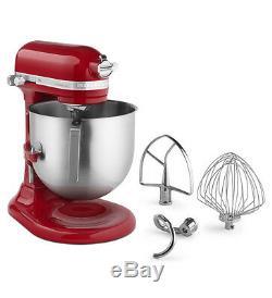 KitchenAid Commercial 8-Qt Bowl Lift NSF Stand Mixer KSM8990ER 1.3-HP Motor Red