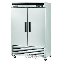 Maxx Cold 49cf Commercial Double 2 Two Door Upright Reach In Refrigerator All SS