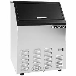 Maxx Ice 130lb Energy Star Commercial Undercounter Clear Ice Cube Maker Machine