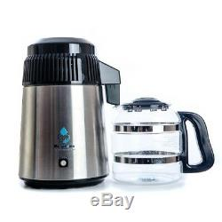 Megahome Deluxe Water Distiller With Glass Jug In Black Multi UK EU Plug