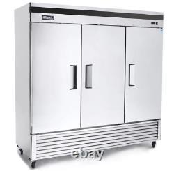 Migali C-3RB-HC Commercial Three Door Refrigerator Reach In 72 Cu. FREE SHIPPING