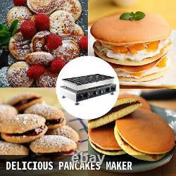 Mini Dutch Pancake Baker 50PCS Commercial Waffle Maker Machine 1.8in Nonstick