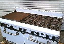 NEW 60 Combination Stainless Steel Gas Range Ideal IDRG-4G36 #3490 Commercial