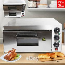 NEW Commercial Pizza Oven Double Deck Electric Baking 2x16 Stainless steel
