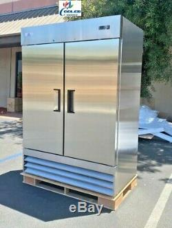 NEW Two Door Freezer Commercial Reach In Stainless Steel Freezer XB54F NSF