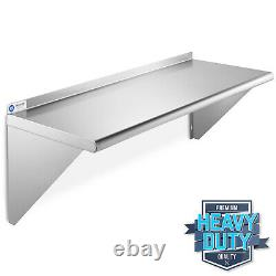 NSF Stainless Steel 18 x 48 Commercial Kitchen Wall Shelf Restaurant Shelving