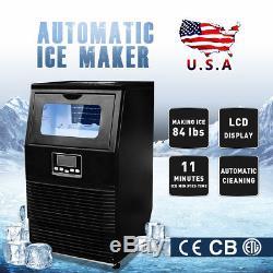 New 110V 38KG Stainless Steel Commercial Bar Ice Cube Maker Ice Making Machine