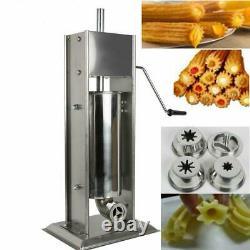 New 5L Stainless Steel Commercial Manual Spanish Churro Maker Doughnut Machine