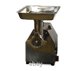New Commercial Electric Meat Grinder 1 HP Stainless Steel Heavy Duty Meat Mincer