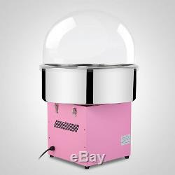 New Electric Cotton Candy Machine Pink Floss Carnival Commercial Maker With Cover