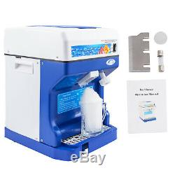 New Ice Shaver Snow Cone Machine Ice Crusher Maker Commercial Instrument