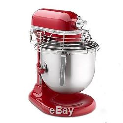 New KitchenAid KSMC895ER Commercial Stand Red Mixer 8 Quart Qt Stainless Steel