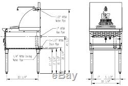 PANTIN Commercial 1 Burner 13 Stainless Steel Chinese Wok Range 125,000BTU