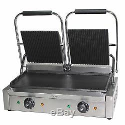 Panini Press Double Sided Electric Commercial Twin Contact Grill Pannini Maker