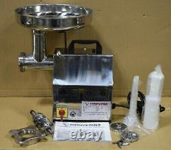 Refurb American Eagle Ae-g12ss #12 1hp Stainless Steel Commercial Meat Grinder