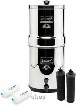 Royal Berkey Water Filter with 2 Black Berkey Purifiers & 2 Berkey Fluoride NEW