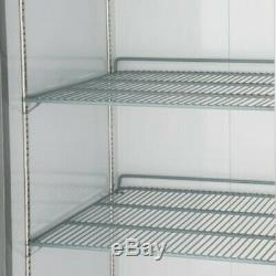 Single Door Upright Commercial Reach In Stainless Steel Refrigerator 23 Cu Ft