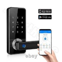 Smart Biometric Fingerprint Door Lock Keyless Entry Handle WIFI Bluetooth APP