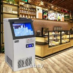 Stainless Steel Commercial 110Lbs Undercounter Ice Maker Machine Cooled Cube
