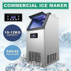 Stainless Steel Commercial 160Lbs Undercounter Ice Maker Machine Air Cooled Cube