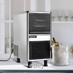 Stainless Steel Commercial Ice Maker 110lbs/24h Freestanding Restaurant Bar