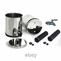 Travel Berkey Water Filter 2 Black Filters + Stainless Steel Spigot NEW