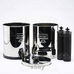 Travel Berkey Water Filter Purification Sys w 2 Black Berkey Filters w Warranty