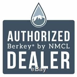 Travel Berkey Water Filter with 2 Black Berkey Purifiers Factory Blemished NEW