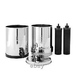 Travel Berkey Water Filter with 2 Black Berkey Purifiers NEW