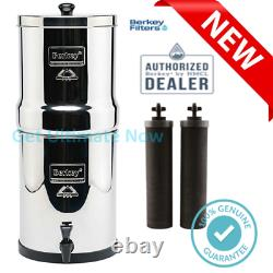 Travel Berkey water filter system + 2 Black Filter Elements