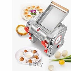 US 110V Electric Pasta Press Maker Noodle Machine Dumpling Skin Home Commercial