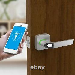 Ultraloq UL1 Bluetooth Fingerprint Key Fob Smart Door Lock Handle Nickel