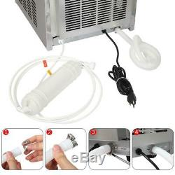 Upgrade 150Lbs Auto Commercial Ice Cube Maker Machine Stainless Steel Bar 68kg