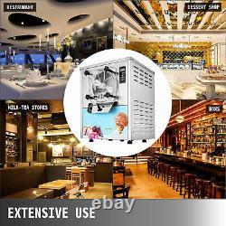 VEVOR 20L/H Frozen Hard Ice Cream Machine LCD Display Commercial Yogurt Maker