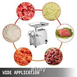 VEVOR Commercial 1HP Electric Meat Grinder 550lbs/h Meat Mincer Sausage Maker