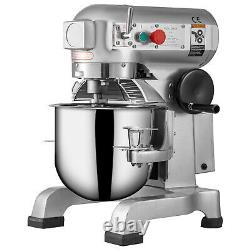 VEVOR Commercial 20Qt Dough Food Mixer Three Speed Gear Driven Pizza Bakery 750W