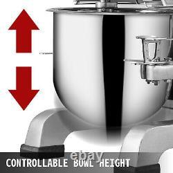 VEVOR Commercial 20Qt Food Mixer Electric Stand Mixer Gear Driven Pizza Bakery