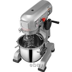 VEVOR Commercial Dough Food Mixer Gear Driven 30 Qt 1.5 HP 3 Speed Pizza Bakery