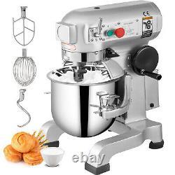 VEVOR Commercial Stand Machine Electric Food Mixer Dough Mixer 3 Speed 10Qt 450W