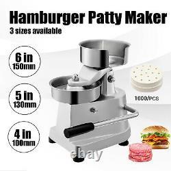 VEVOR Manual Commercial Burger Press Hamburger Patty Maker 2-6 inch Meat Former