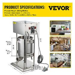 VEVOR New High Torque Commercial Electric 15L Sausage Stuffer Free Tubes