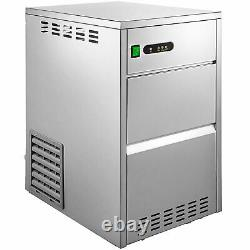 VEVOR Snowflake Ice Maker 55LBS Commercial Ice Maker Machine Stainless Steel