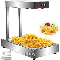 Vevor Commercial Infrared French Fry Food Warmer Fryer Dump Station Heat Lamp