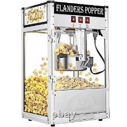 Vintage Style Commercial Popcorn Maker Machine 8OZ Capacity Corn Popper Movie