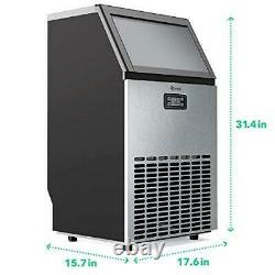 Vremi Commercial Grade Ice Maker 100 Pounds Freestanding Undercounter Built-In