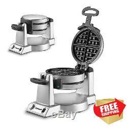 Waring Pro Double Belgian Waffle Maker Iron Gourmet Baker Breakfast Commercial