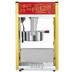 ZOKOP 8OZ Commercial Popcorn Maker Machine Pop Corn Popper Popcorn Scoop Cups