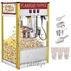 ZOKOP 8OZ Commercial Popcorn Maker Machine Pop Corn Popper Tempered glass Red