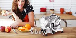 Zica Commercial Electric Meat Slicer 10 Stainless Steel Blade Deli Food Cutter